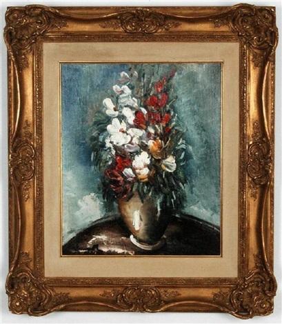 bouquet de fleurs dans un vase by maurice de vlaminck on. Black Bedroom Furniture Sets. Home Design Ideas