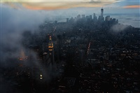 View from Empire State Building after a storm, 2013