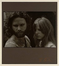 jim morrison & pam - bronson caves, hollywood california by edmund teske