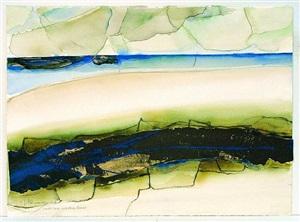 dunkle zone in hellem strand by carl-heinz kliemann