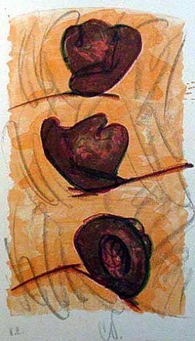 three hats by claes oldenburg