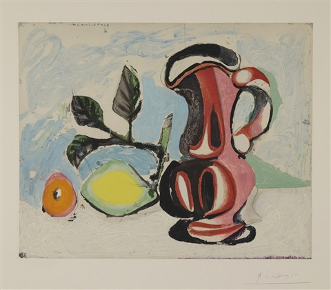 Nature morte au citron et au pichet rouge by Pablo Picasso on artnet