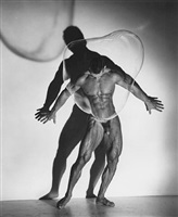 'male nude with bubble', los angeles, 1987 by herb ritts