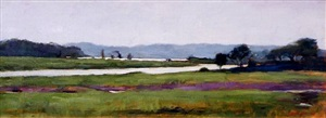 marshes on the connecticut river at lyme by sarah k. lamb (sold)