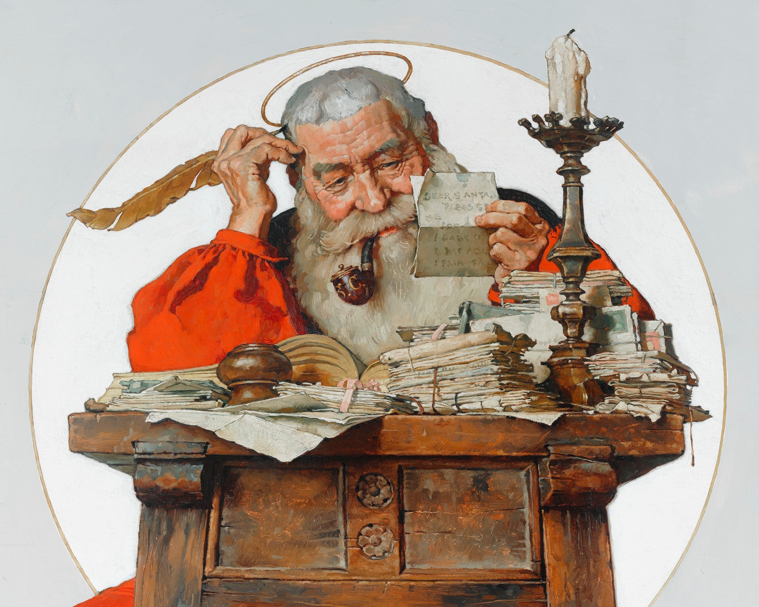 Billedresultat for norman rockwell santa