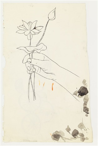 Hand Holding One Flower And One Bud By Andy Warhol On Artnet