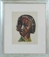 untitled (head of woman) by elizabeth catlett