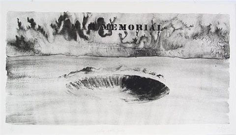 crater with smoke by robert morris