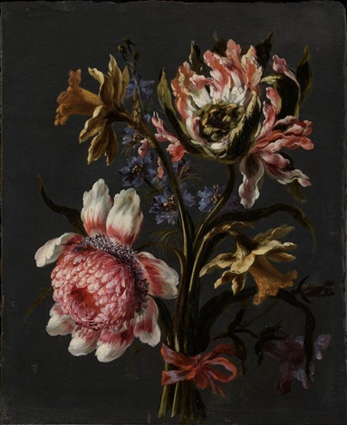 Due quadri con mazzo di fiori pair by Mario Nuzzi on artnet