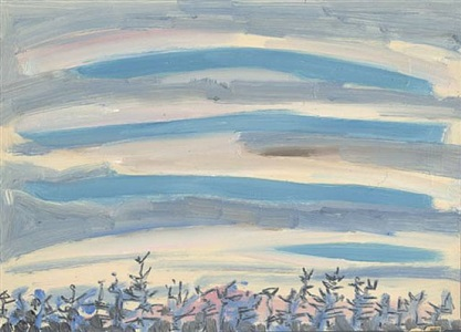 sunset by lois dodd