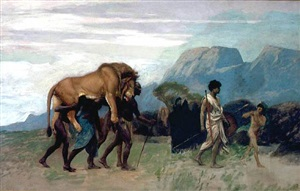 return from the lion hunt by jean-léon gérôme