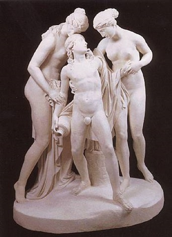 hylas surpised by the nymphs by john gibson