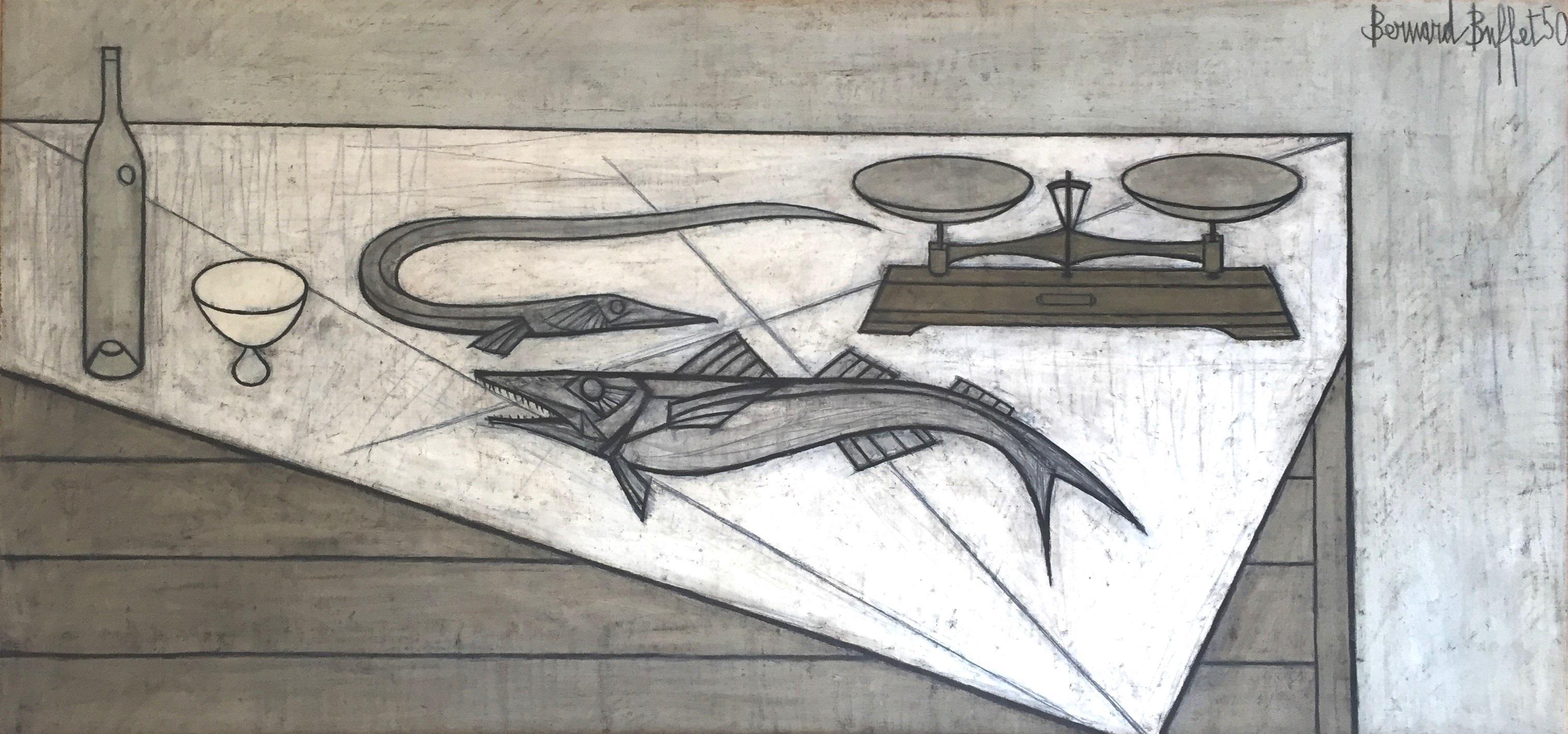 Poisson et Balance by Bernard Buffet on artnet
