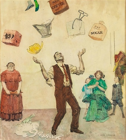 How to Juggle Your Expenses by Orson Byron Lowell on artnet