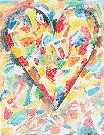 white heart by jim dine