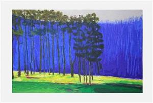 dark pines by wolf kahn