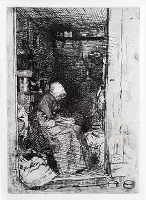 la vieille aux loques - the rag picker by james abbott mcneill whistler