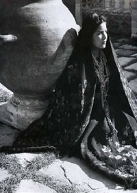 costume of puebla by fritz henle