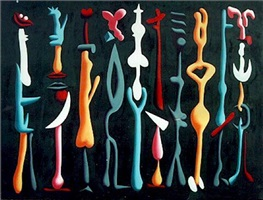 qb2 by mark kostabi