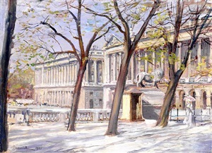 la place de la concorde vue des jardins des tuileries by pierre georges jeanniot