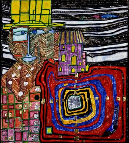 tout oreille - all ear by friedensreich hundertwasser