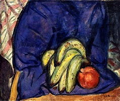 still life with banana and pomegranate by alfred henry maurer