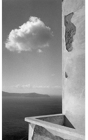 terrace, santorini, 1990 by william abranowicz