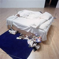 my bed - installation turner prize exhibition, tate gallery, london, 2000 by tracey emin