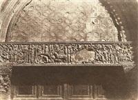 jerusalem - saint sepulcre - bas relief (porte d'entrée) by auguste salzmann