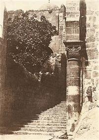 jerusalem, sainte sepulchre, colonne du parvis by auguste salzmann