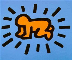icon (radiant child) ed. of 250 by keith haring