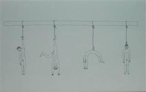 hanging by atelier van lieshout
