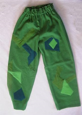 costumes for covent garden london - patches trousers back by david hockney