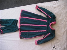 costumes for covent garden london - sea green and pink top by david hockney