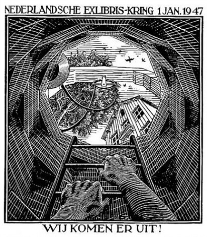 Well new years greeting card 1947 by mc escher on artnet well new years greeting card 1947 by mc escher m4hsunfo