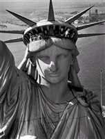 statue of liberty, new york, ny 1952 by margaret bourke-white