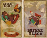 (forever free) after black (riding high), and before black (riding high), a pair by michael ray charles
