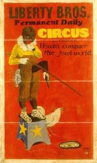 (liberty bros. permanent daily circus) howta conquer the fowl world by michael ray charles