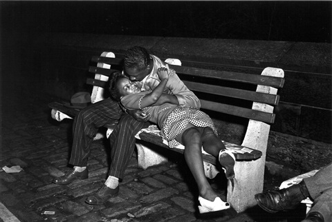 Couple Necking On Park Bench At Night By Weegee On Artnet