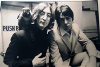 a mad day out in london with the beatles (john lennon with parrot and paul mc cartney) by don mccullin