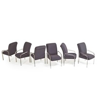 tall-back dining chairs (6 works) by lion in frost (co.)