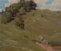 summer hillside by gustave cimiotti