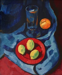 Still Life with Lemons (Fruit and Tumbler), 1928