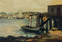 boothbay harbor by edward willis redfield