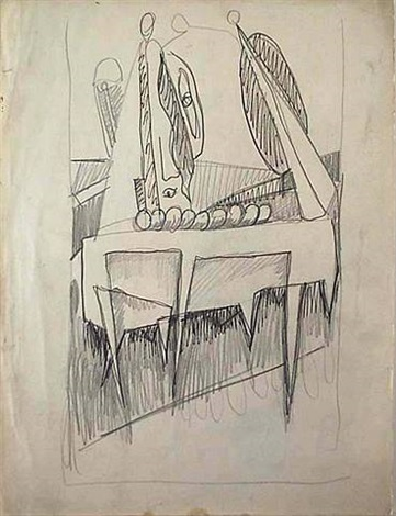 "untitled, study related to ""sacrifice of iphigenia"" (recto)<br>study related to ""the omen"" (verso) by mark rothko"