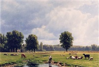 <i>dutch landscape with cattle</i> by jacob jan van der maaten