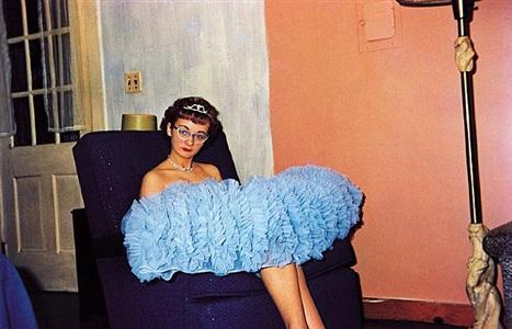 'americans in kodachrome' edited by guy stricherz (blue prom dress, hamilton, massachusetts. richard g. gill, photographer) by guy stricherz