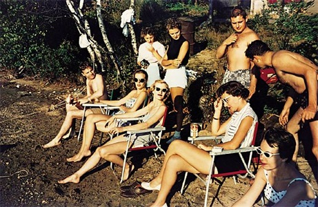 'americans in kodachrome' edited by guy stricherz (river party, south river, north kingston, rhode island. eugene christiansen, photographer) by guy stricherz