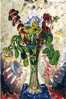 flowers: in tall vase by alfred henry maurer