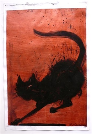 untitled cat by richard hambleton